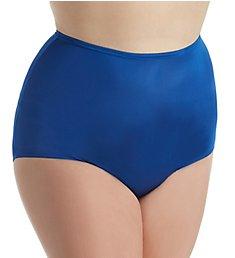 Shadowline Plus Size Hidden Elastic Nylon Classic Brief Panty 17032P