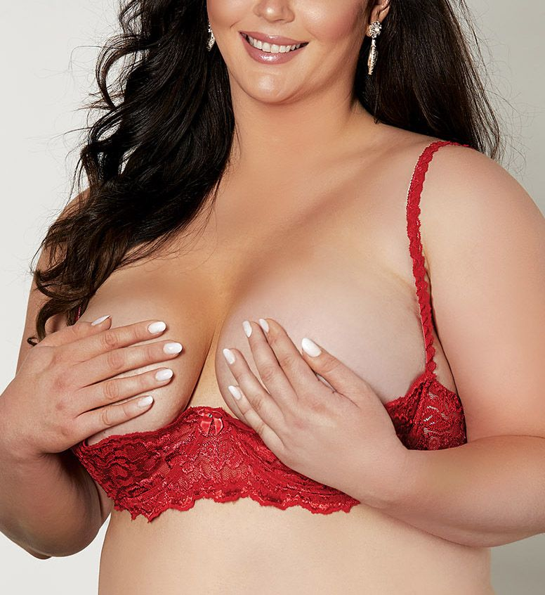Shirley of Hollywood Plus Size Chopper Lace Shelf Bra X324