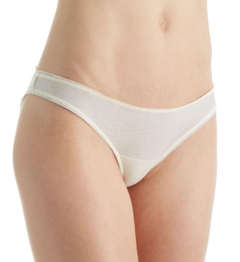 Skin Organic Pima Cotton Jersey Mesh Bikini Panty OJPEK