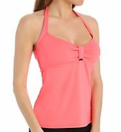 Swim Systems Solid Halter Tankini Swim Top H675