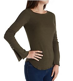 Three Dots Heritage Knit Long Sleeve with Sleeve Detail AA2647