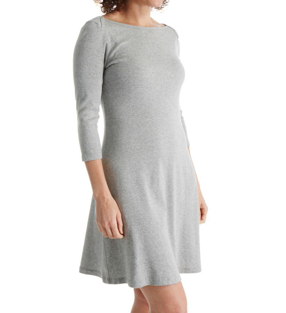 Three Dots Cotton Trista 3/4 Sleeve British Dress AA5588