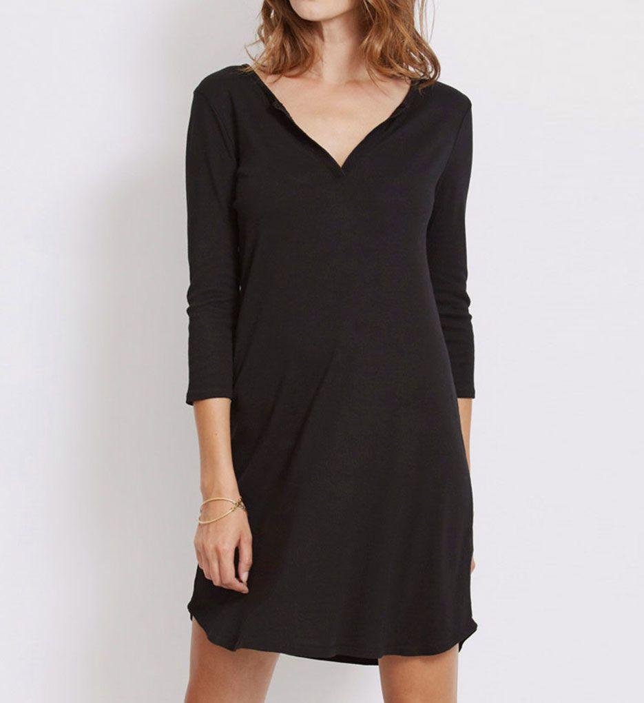 Three Dots 1X1 Cotton Modal Charlotte 3/4 Sleeve Dress AJ5509