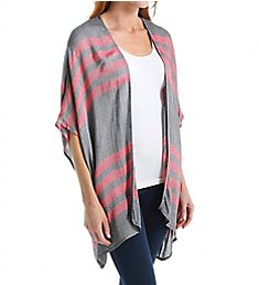 Three Dots French Linen Stripe Rosa Cardigan Cover Up FL7205