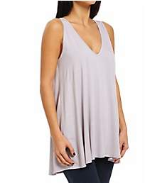 Three Dots A-Line Sweep Tank with Keyhole Detail Tee LD0184