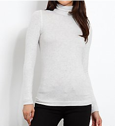 Three Dots Brushed Sweater Long Sleeve Turtleneck QQ2482