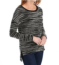 Three Dots Space Dye French Terry Marilyn Drop Shoulder Top RF2383
