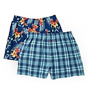 Tommy Bahama Floral and Plaid Woven Boxers - 2 Pack 2171309
