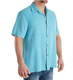 Tommy Bahama Luau Stamped Floral Silk Original Fit Camp Shirt T316593
