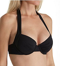 Tommy Bahama Pearl Solids Underwire Full Halter Swim Top TSW31001T