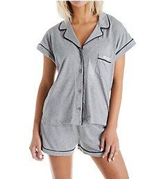 Tommy Hilfiger Girlfriend Jersey Short Sleeve Top & Short PJ Set R87S028