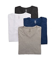 Van Heusen 100% Cotton V-Neck T-Shirt - 4 Pack 00CPT11Z