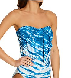 Vince Camuto Tie Dye Draped Bandini Swim Top V92516