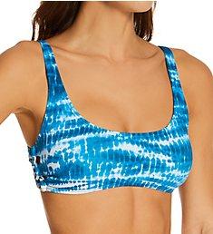 Vince Camuto Tie Dye Side Lace Bikini Swim Top V92714