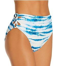 Vince Camuto Tie Dye Side Laced High Leg Bikini Swim Bottom V92715
