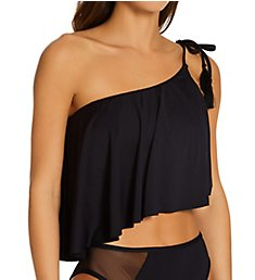 Vince Camuto Mesh Cutouts One Shoulder Tankini Swim Top V94709